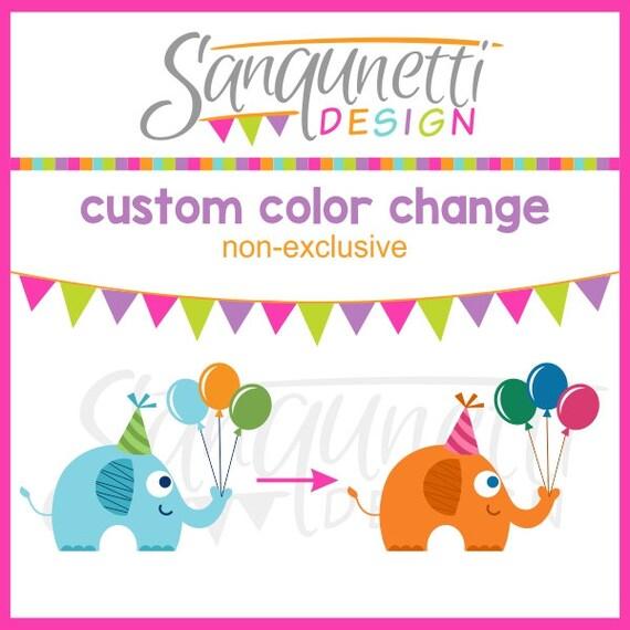 Custom Color Change Single Clipart Non-exclusive