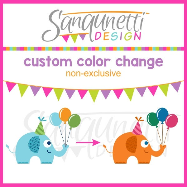 Custom Color Change, Single Clipart, Non-exclusive From