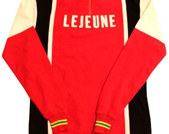 70's vintage Lejeune cycle jersey made in France