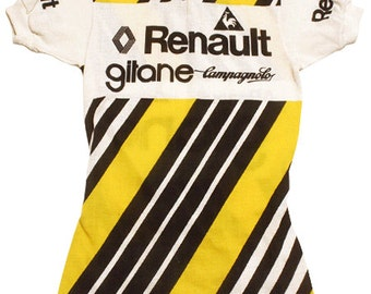 70's vintage LeCoq  RENAULT GITANE CAMPAGNOLO cycle jersey made in France Very rare!!!