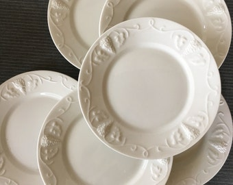 """Vintage Red Cliff Ironstone """"Grape"""" Salad Plates - set of 6 