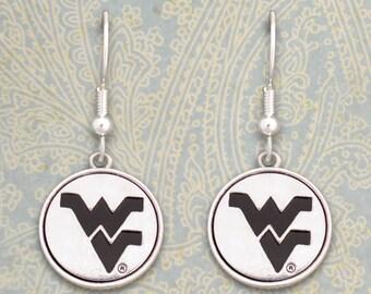 West Virginia Mountaineers Medallion Earrings