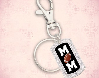 Football Mom Dogtag Keychain - 49658