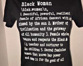 Definition of a Black Woman (Remix):  African American T-shirts