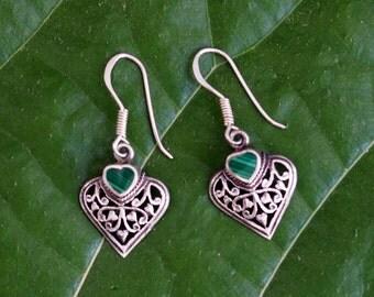 Vintage Thai Sterling Silver Drop Earrings