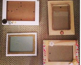 Shabby Chic, Rustic Handmade Frames