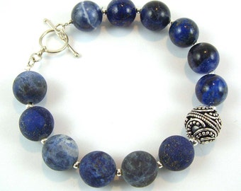 Lapis and Sodalite Bracelet
