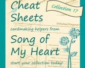 Cheat Sheets #17 Collection: Instant Digital Download cardmaking helpers