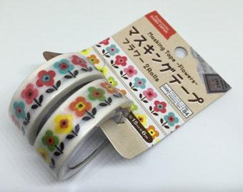 Cute kawaii masking/washi tapes (2 rolls set)