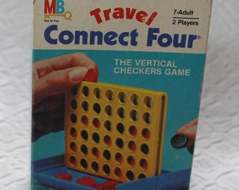 Vintage Travel Connect Four - The Vertical Checkers Game