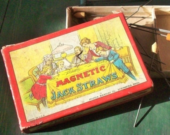 Magnetic Jack Straws / Antique Game Night / FUN