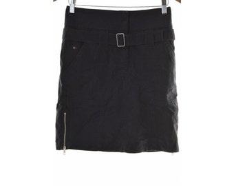 Tommy Hilfiger Womens A-Line Skirt Size 16 XL W28 Navy Blue Cotton Nylon
