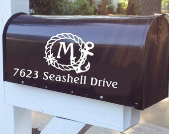 Nautical Mailbox Decal