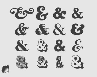 ampersand decals - Vinyl ampersand stickers for custom wall personlization