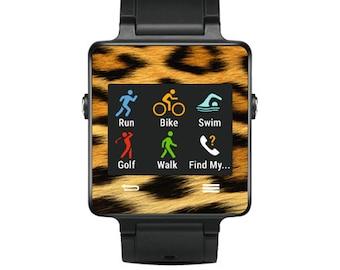 Skin Decal Wrap for Garmin Vivoactive Forerunner, Vivoactive Forerunner Hr Watch cover sticker Cheetah