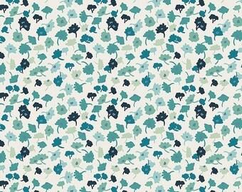 Fabric by the Yard - Modern quilt fabric - Delicate Femme Azur - Art Gallery Fabric - Essentials II - Blue Fat Quarter Bundle - Blue Fabric