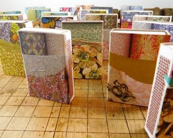 Set of 20 Paper Art Matchboxes // Decorative Mini-art Matchboxes // Collage Matchboxes // Party Favors //Teacher Gifts