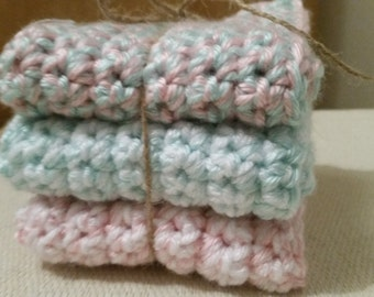 Hand Crochet dishcloths, washcloths
