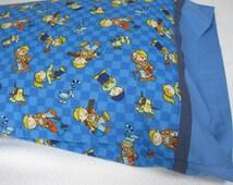 Pillow case, Pillowcase, Themed Pillowcase, Child's Pillowcase, Child's Bed linens, Cartoon pillowcase, Boy's Pillowcase, Girl's Pillowcase