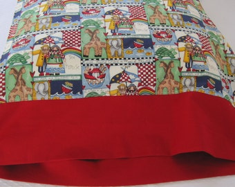 Themed pillowcase, Christian, Noah's Ark, Bible Story, Children's Bedding, Bible stories, 2 by 2, God's grace, Grace, Rainbow Promise, Faith