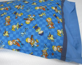 Pillow case, Pillowcase, Themed Pillowcase, Child's Pillowcase, Child's Bed linens, Cartoon pillowcase, Boy's Pillowcase, Girl's Pillowcase