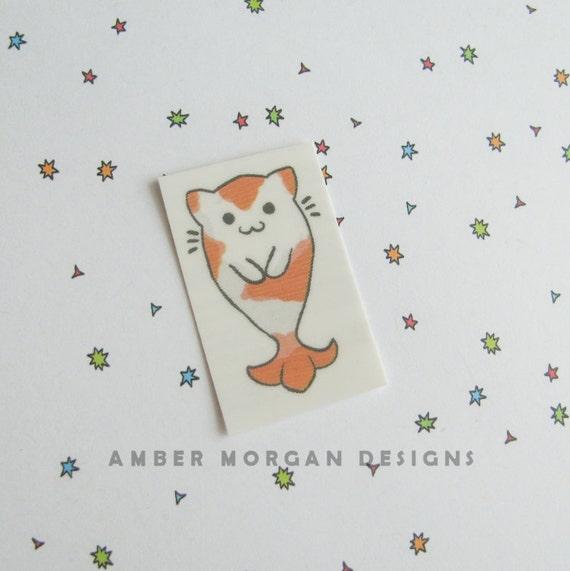 Custom listing for babyloser520 - 40 Kitty Koi temporary tattoos