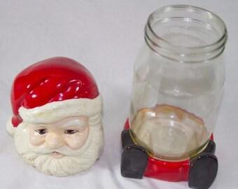 Vintage 1984 Santa Claus Candy Jar