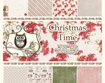 Christmas Time 6x6 Collection - Instant Download
