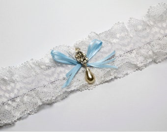 Crystal and Pearl Bridal Garter