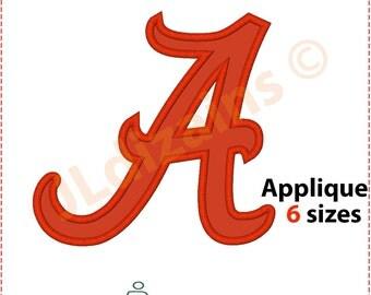 ALABAMA applique design. Machine embroidery design - INSTANT DOWNLOAD - 6 sizes