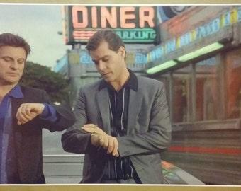 "Goodfellas GIANT WIDESCREEN 42"" x 24 "" Movie Scene Poster Pesci Liotta restaurant itailian italy bar Gangster Mob Man Cave"