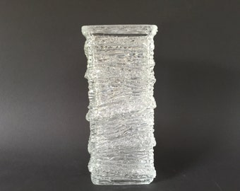 Vintage   relief  Glass   Mid Century Modern 1960s - 1970s  West Germany glass.