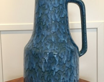 Scheurich XL 408 / 40 vintage handled Floor vase,  Mid Century Modernist West German Pottery  made in the 1960s / 1970s. WGP.