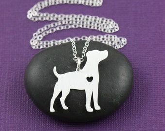 SALE - Jack Russell Terrier Dog Necklace - Pet Necklace - Custom Dog Necklace - Dog Lover - Birthday Gift -Personalized Dogs-Engraved Dog