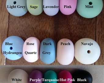 SALE!Lot of 10 Silicone Abacus Beads