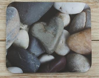 Mouse Pad mousepad Stone Heart Rock Original Photography