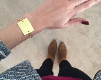 Colorado State Cutout Bracelet w/ Gold Chain