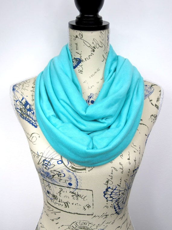Mint Loop Scarf - Plain Color Scarf - Blue Circle Scarf - Solid Infinity Scarf - Fashion Loop Scarf - Women Infinity Scarf Fall Circle Scarf