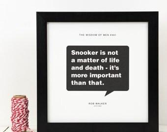 Personalised Snooker Print; Snooker Gift; Gift For Husband; Gift For Boyfriend; Sport Gift; Loves Snooker; PAP103