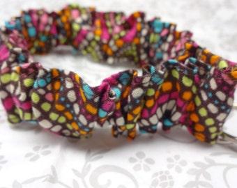 Ruffle Fabric Stretchy Key Fob, Key Chain, Wristlet