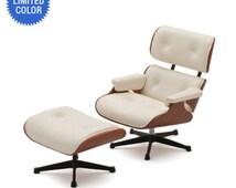 DOLLHOUSE MINIATURE 1956 Eames Lounge Chair And Ottoman #REC085-REC093