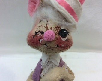 Vintage Annalee Easter Rabbit Bunny Mobilitee Dolls 1965