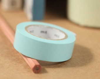 MT Washi Tape Baby Blue Japanese Masking Tape MT Tape Solid Color Basic Color 1P (MT01P191)