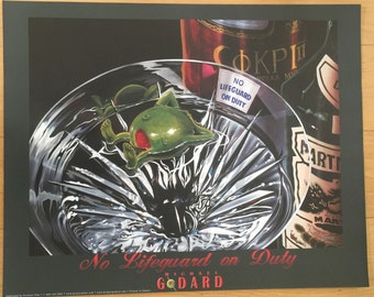 Wall Art Michael Godard No Lifeguard On Duty PRINT POSTER 24 X 30
