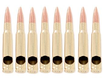 8 Brass 50 Caliber® Bullet Bottle Openers. Made in the USA. Groomsmen Gift. Usher Gift.