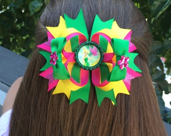 Over the Top Tinkerbell inspired bow
