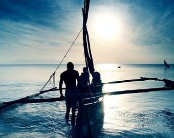 Photography Print - Fisherman Print - Diani Beach Photograph - Fine Art Print