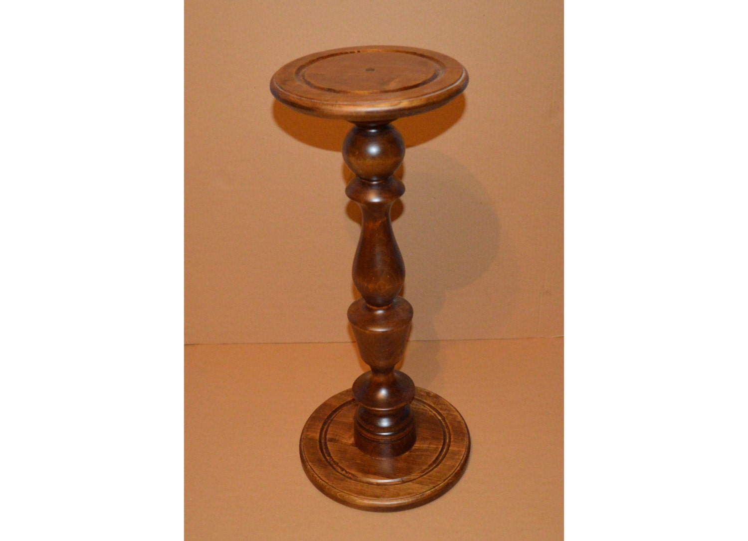 Fern stand plant wood pedestal table wooden