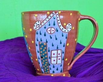 Animalia Pottery Folk Art Cup