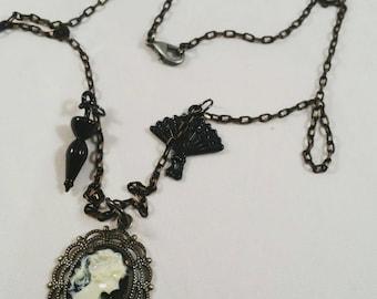 Steampunk Cameo Necklace *SALE*